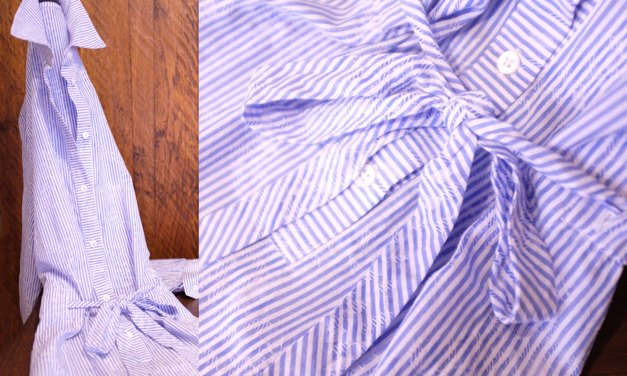 Spring lichtblauwe streepjesjurk
