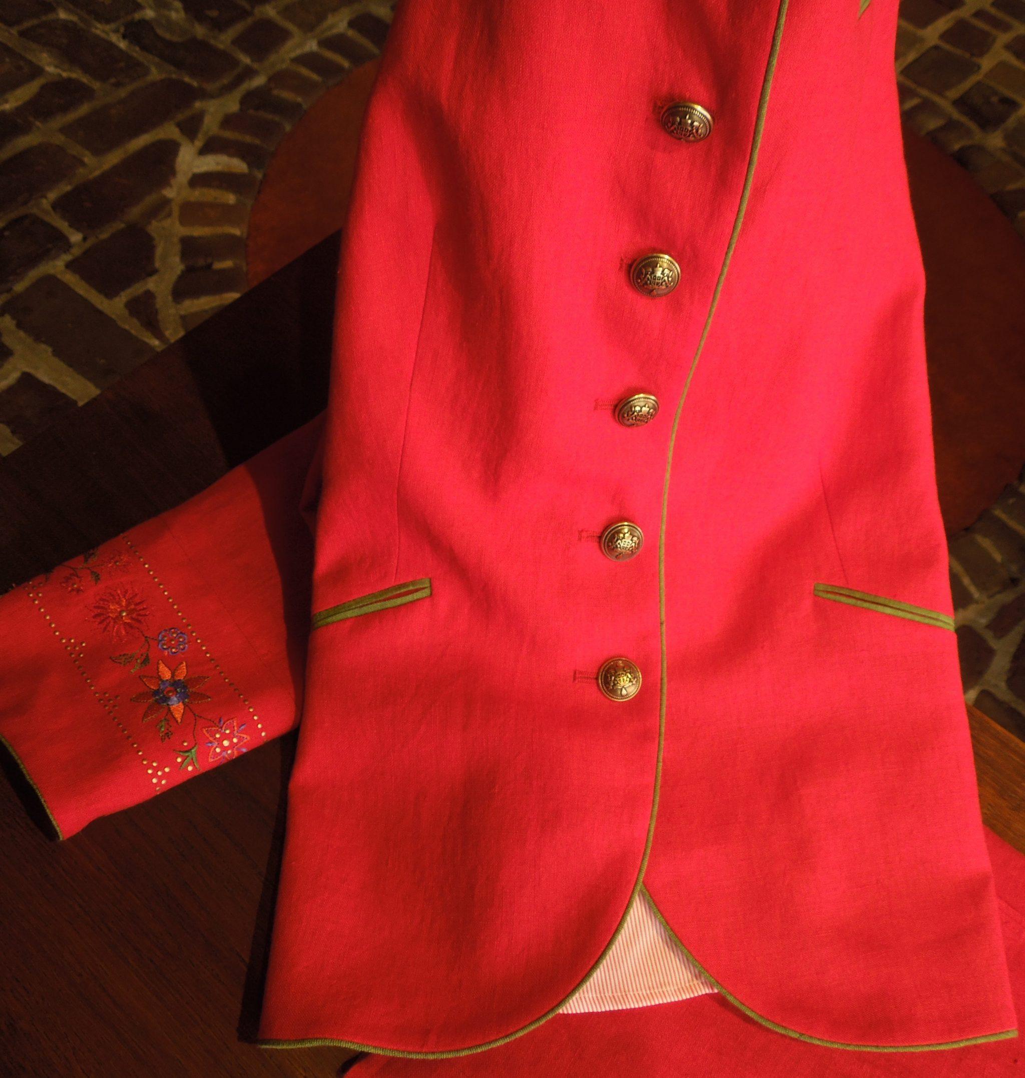 Spring Rood jasje borduursel – foto 2020