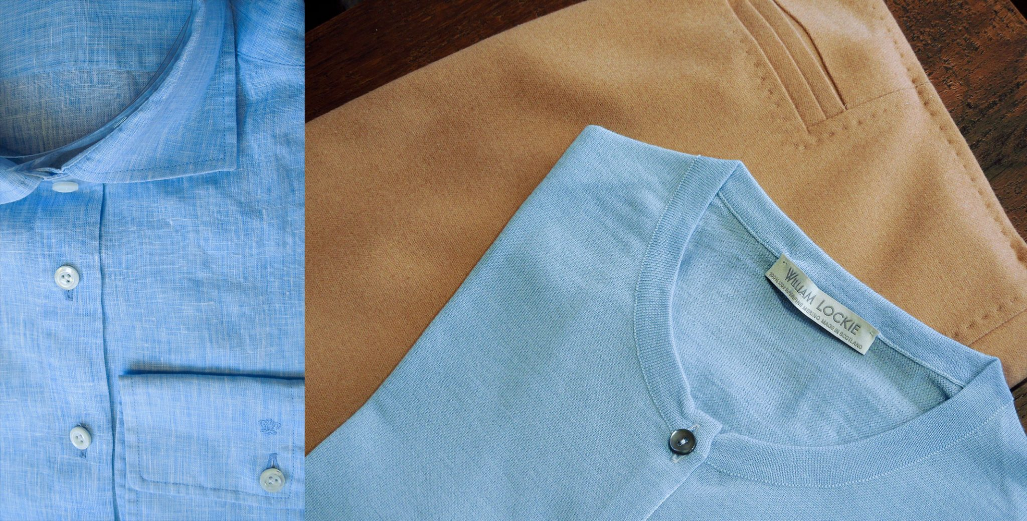 Lichtblauwe blouse en vestje 2021