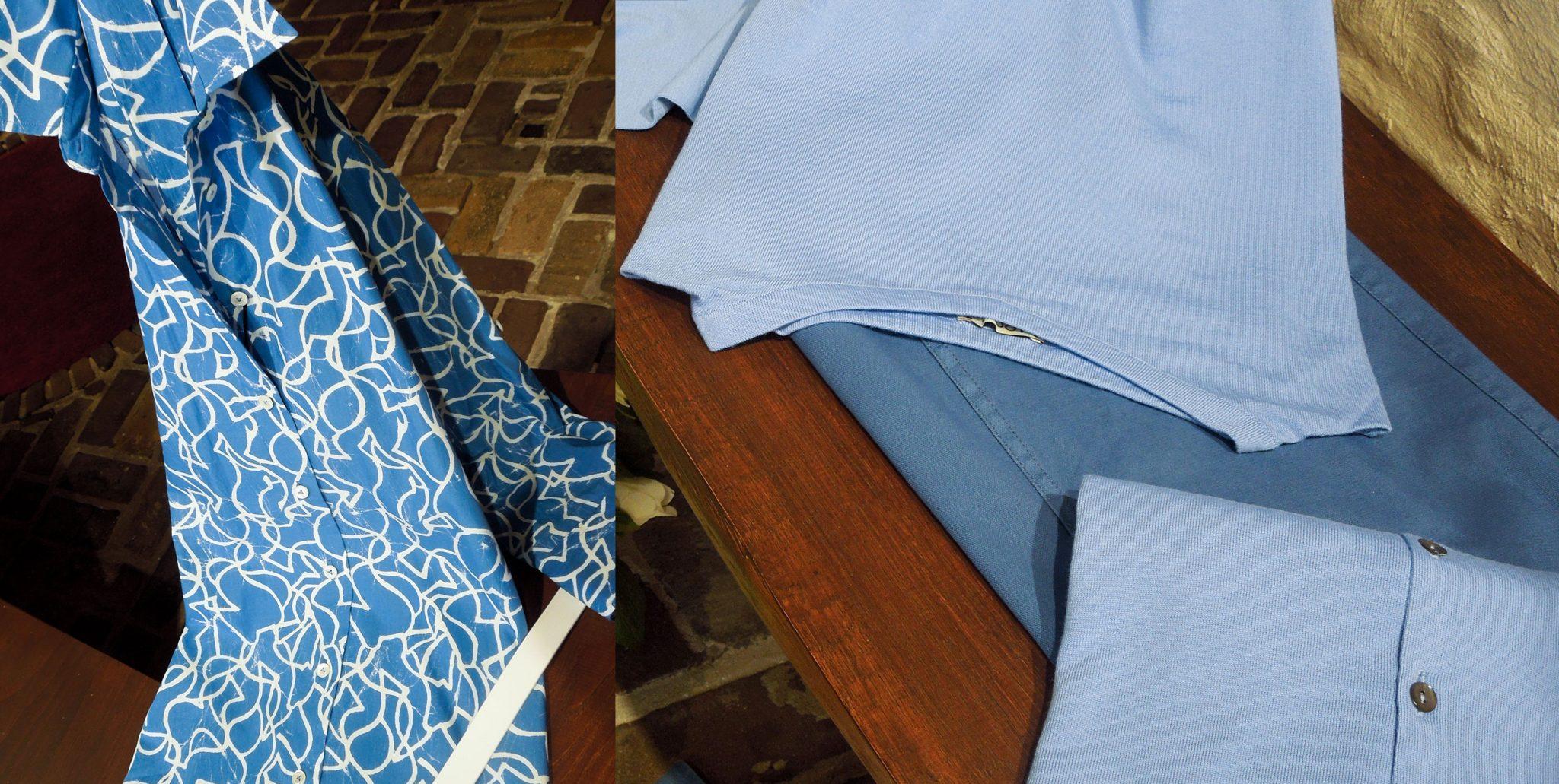 Knalblauwe figuren jurk 2021