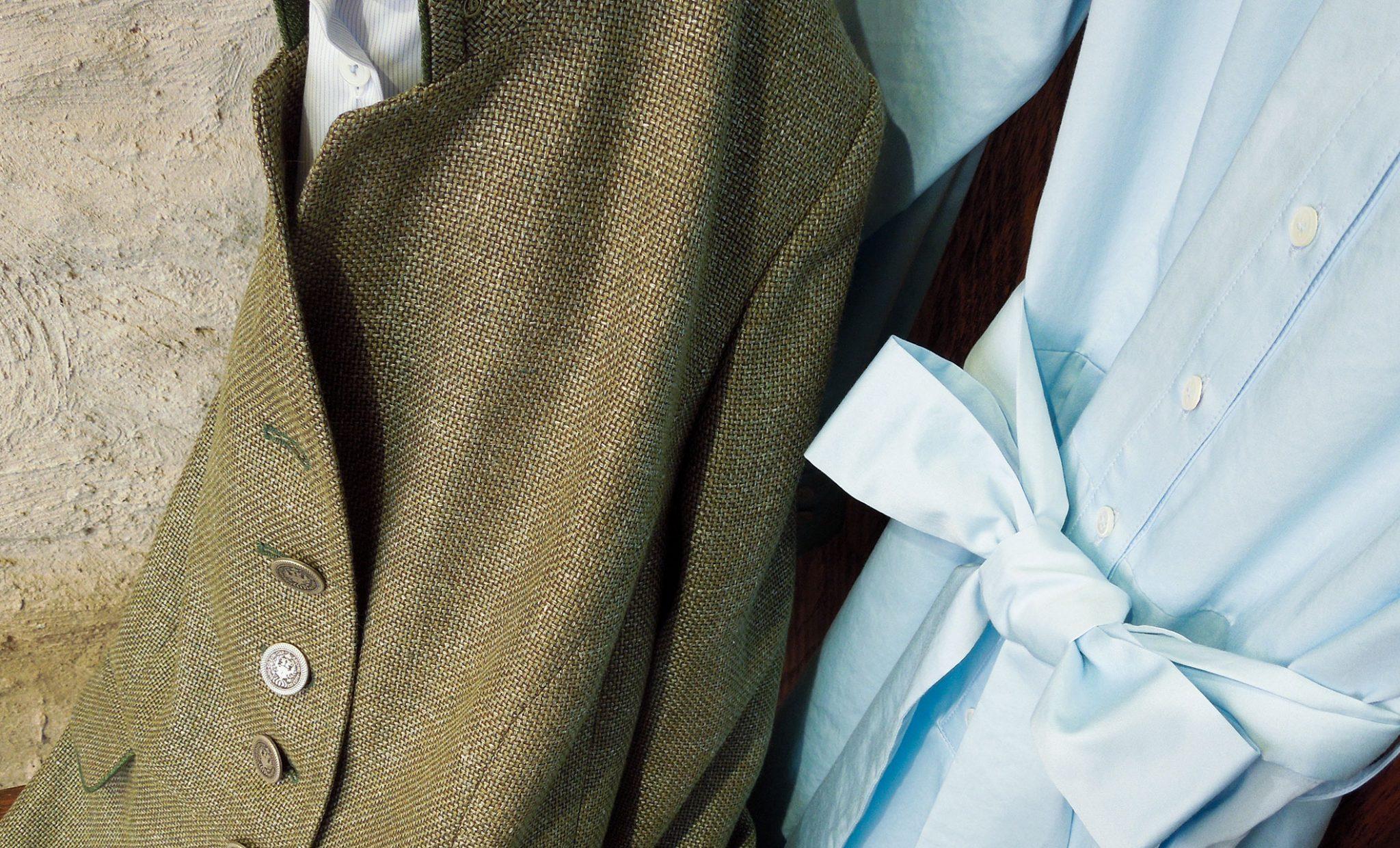 groen jasje blauwe jurk 2021